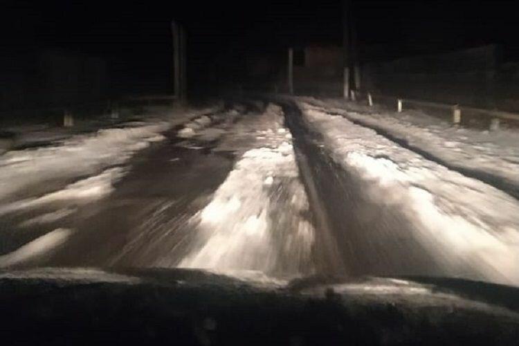 В Исмаиллинском районе выпал снег