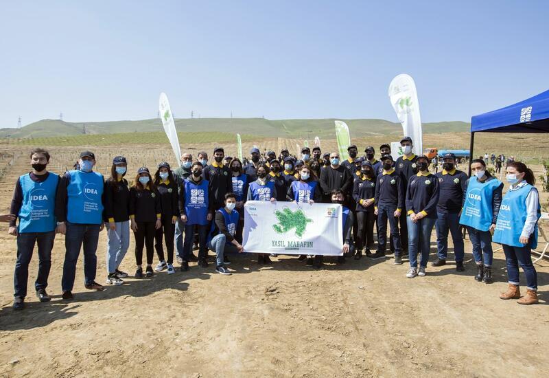 """Азербайджанские таможенники присоединились к акции по посадке деревьев в рамках кампании """"Зеленый марафон"""""""