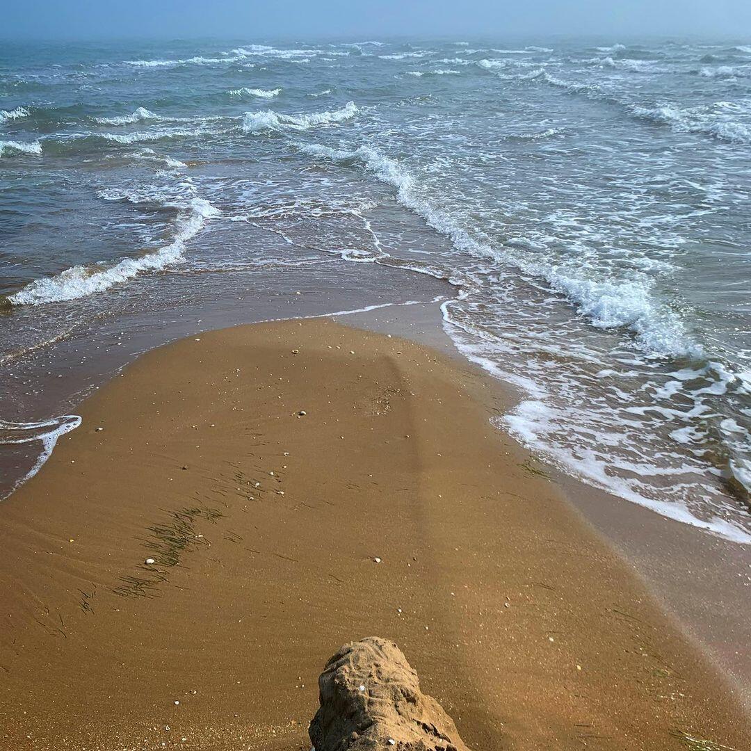 Кадры самой восточной точки Азербайджана