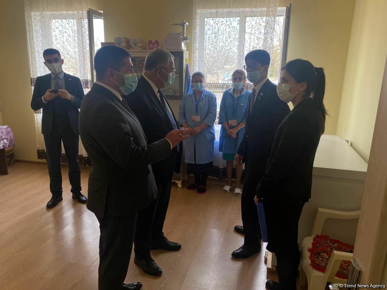 Посол Японии на открытии детсада в Агдаме