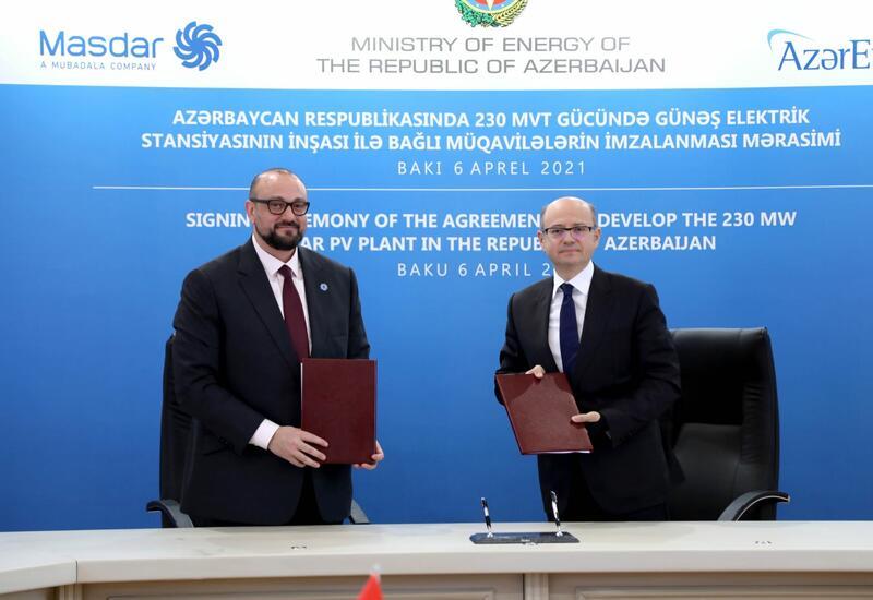 В Азербайджане подписаны контракты о строительстве солнечной электростанции