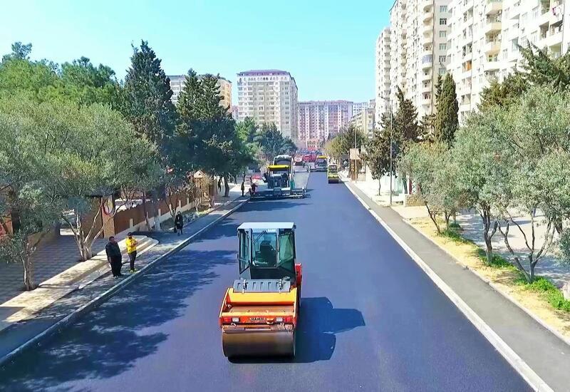 В одном из районов Баку ведется реконструкция ряда дорог