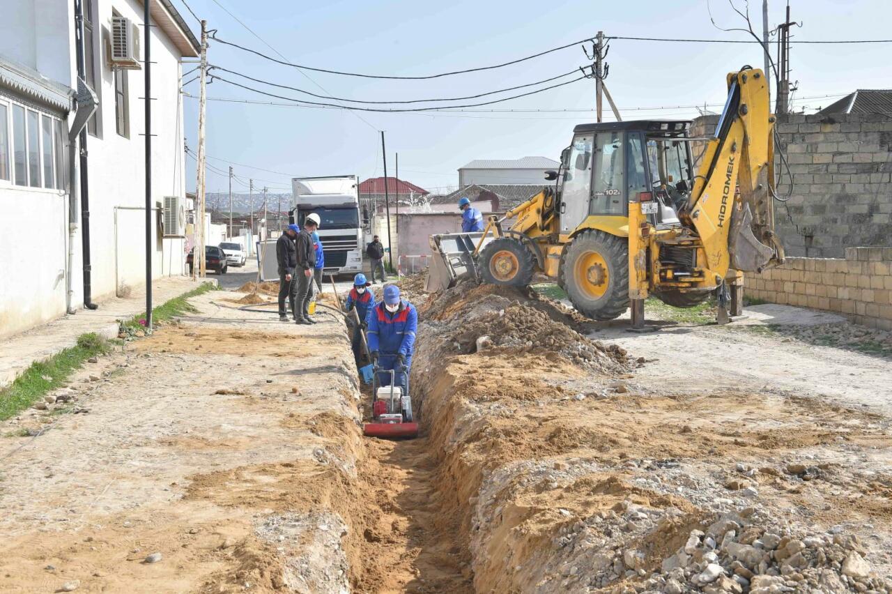 На Абшероне улучшается водоснабжение населения