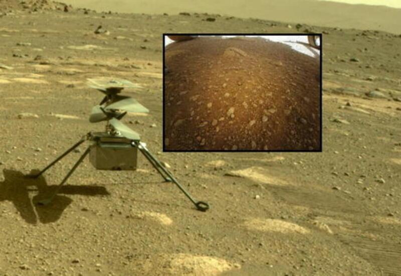 Первый дрон на Марсе прислал цветную фотографию поверхности планеты