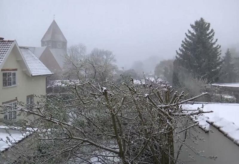 В Бельгии выпало 25 см. снега