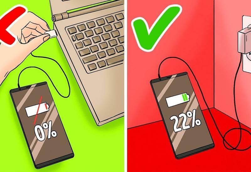 12 ошибок, которые вы совершаете при зарядке телефона