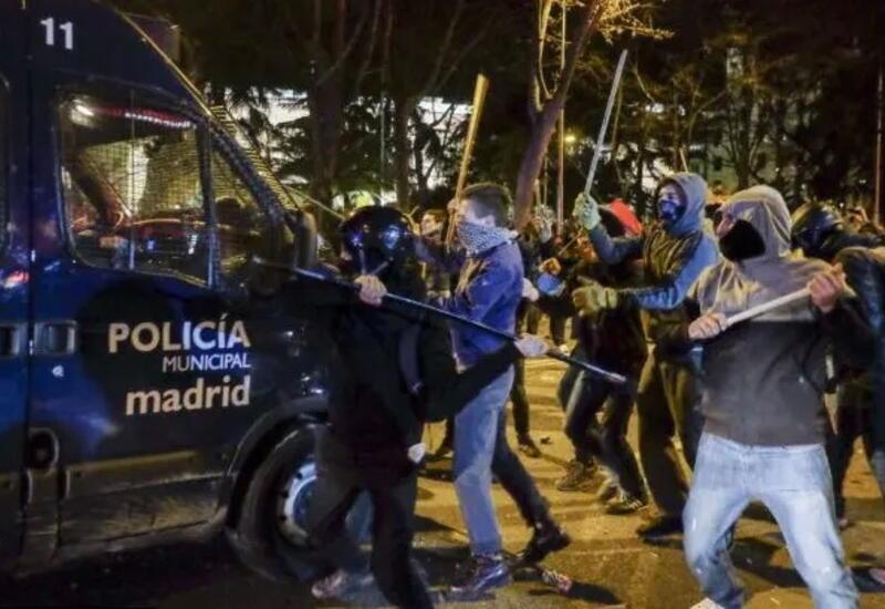 В Мадриде произошли столкновения между полицией