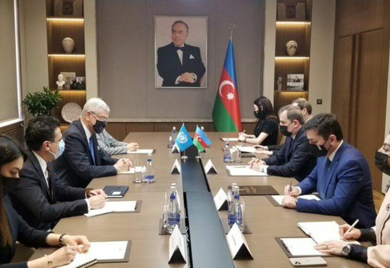 Джейхун Байрамов на переговорах с председателем Генассамблеи ООН