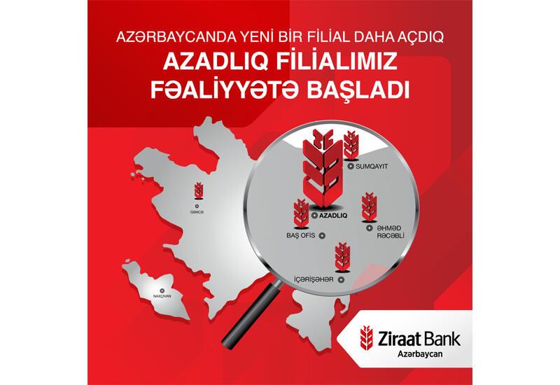 """""""Ziraat Bank Azərbaycan"""" ASC-nin  daha bir yeni filialı-Azadlıq filialı fəaliyyətə başladı!"""