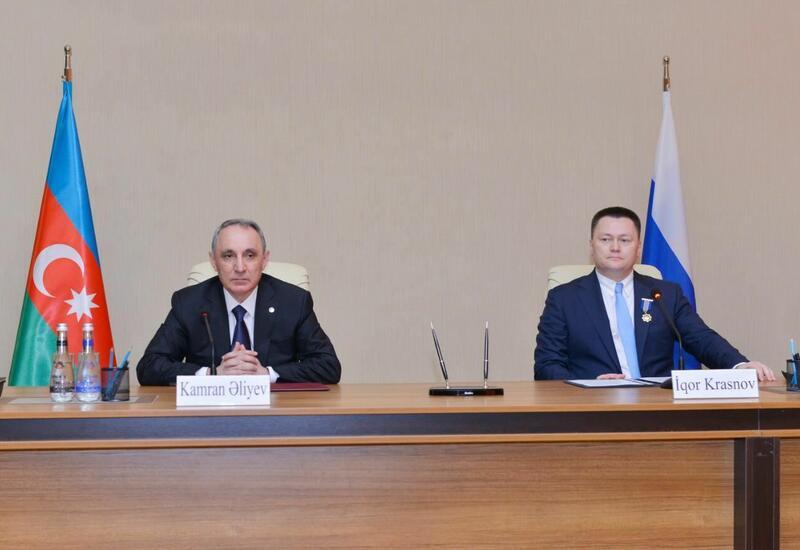 Кямран Алиев провел переговоры с российским коллегой