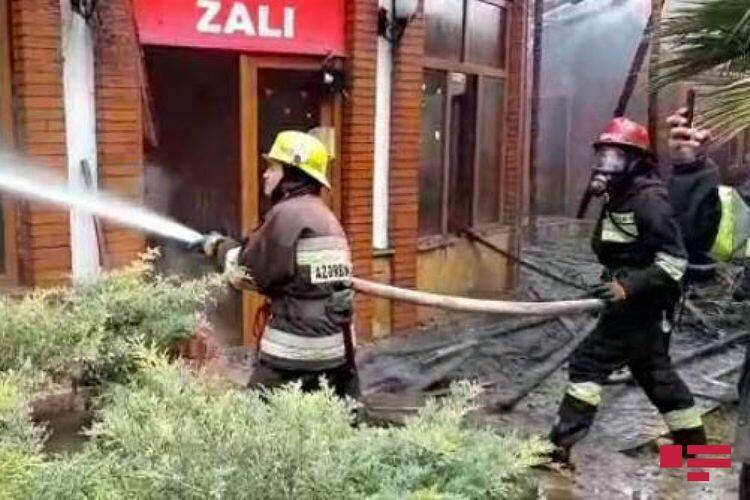 В ресторане в Гяндже произошел пожар