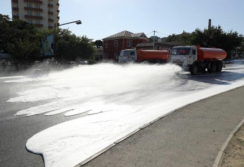 В Баку продезинфицировали 550 улиц