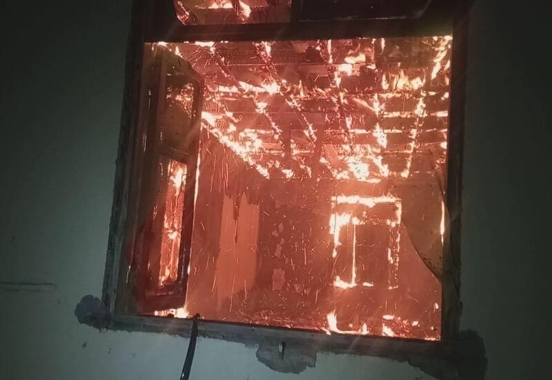 В Агдаме сгорел дом