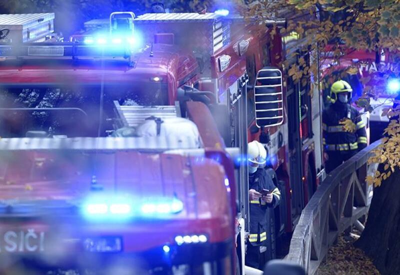 В Праге произошел сильный пожар