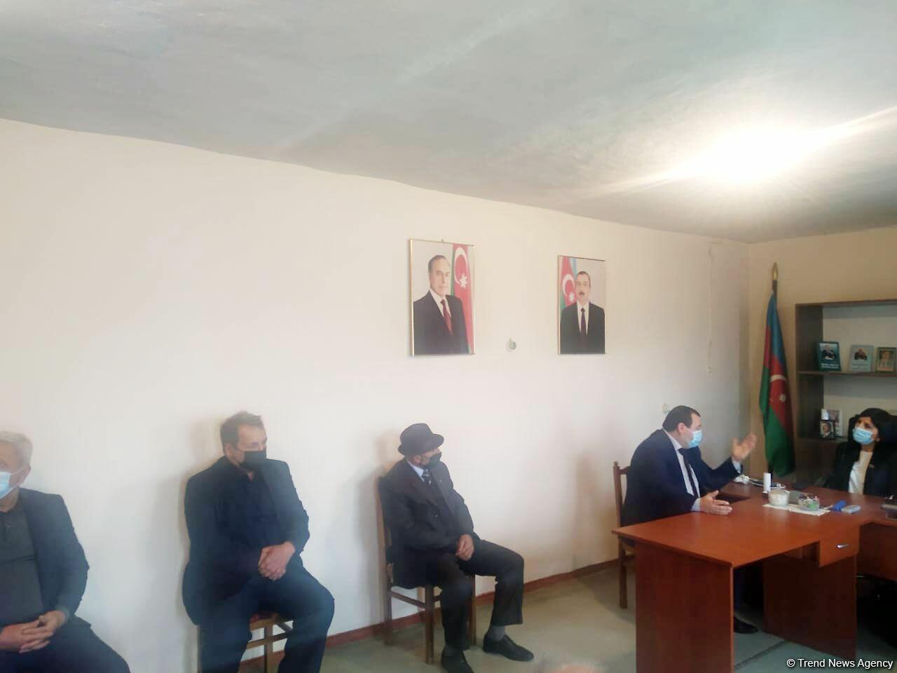 Депутат Севиль Микаилова  встретилась со своими избирателями в Хачмазе