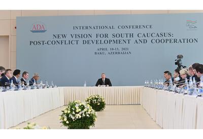 Президент Ильхам Алиев принял участие в проходящей в Университете АДА международной конференции под названием «Новый взгляд на Южный Кавказ: постконфликтное развитие и сотрудничество» - ОБНОВЛЕНО - ФОТО - ВИДЕО
