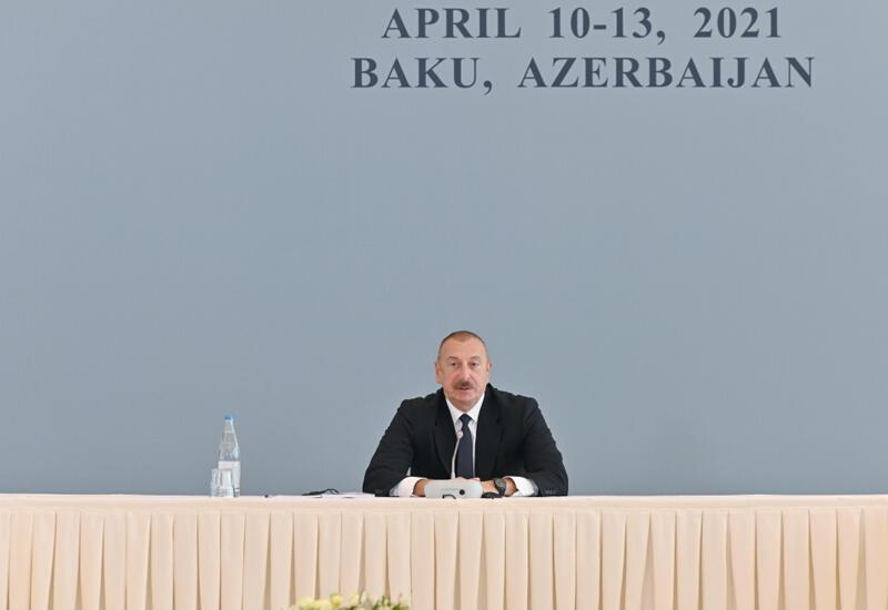"""Президент Ильхам Алиев: Азербайджан направил запрос в Минобороны России в связи с ракетами """"Искандер-М"""" в Шуше"""