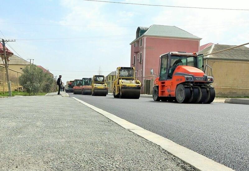 В одном из поселков Баку заканчивается ремонт улицы