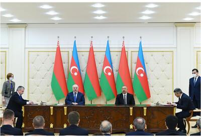 Подписаны азербайджано-белорусские документы - ФОТО - ВИДЕО