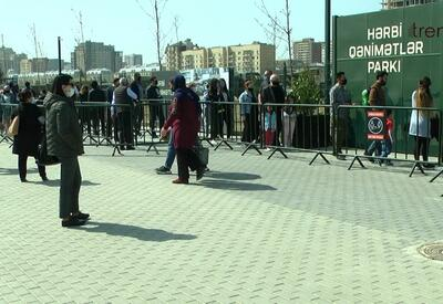 Посещающие Парк военных трофеев жители Баку: Нас переполняет чувство гордости – репортаж Trend TV - ВИДЕО