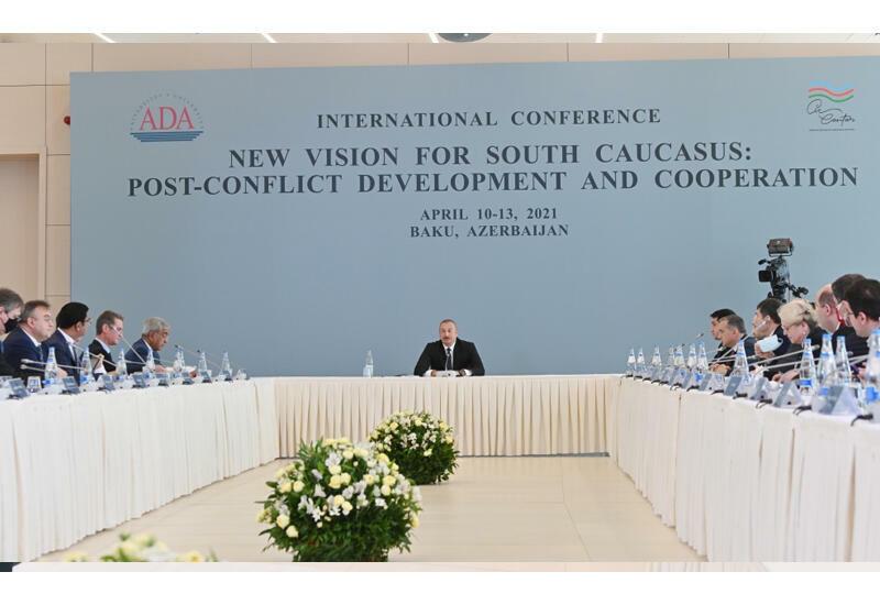 Президент Ильхам Алиев: Зангезурский коридор не может быть открыт без согласия Турции и их участия
