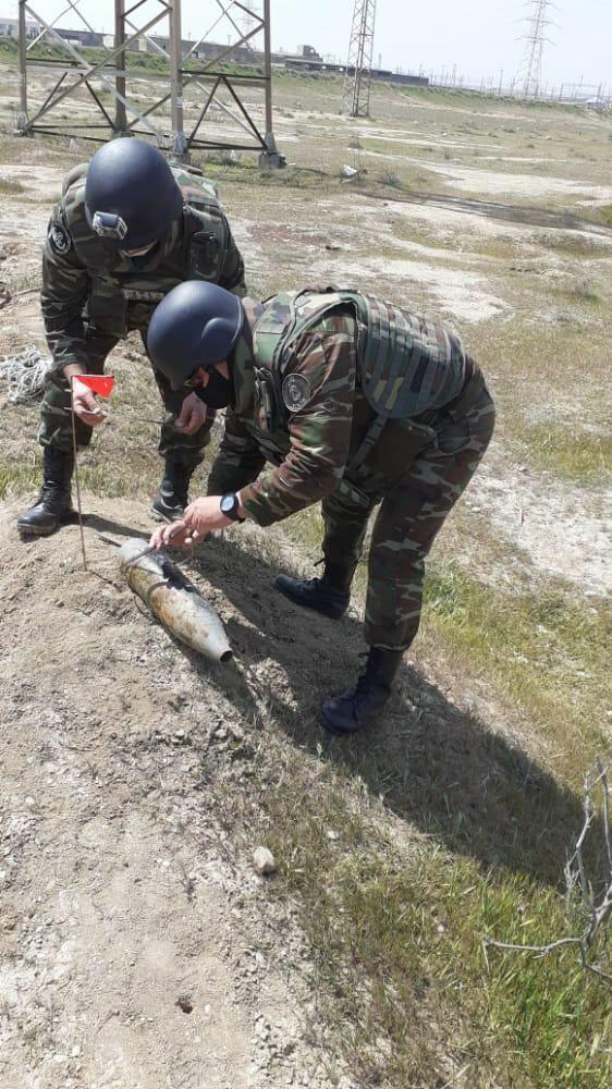 В Сумгайыте обнаружен артиллерийский снаряд