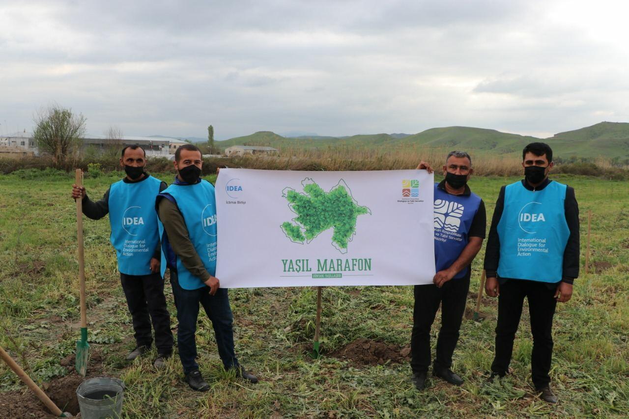 """В рамках """"Зеленого марафона"""" в Губадлинском районе посажено 750 деревьев"""