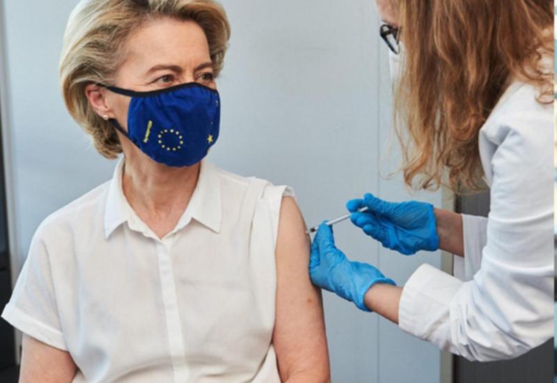 Президент Еврокомиссии вакцинировалась от COVID-19