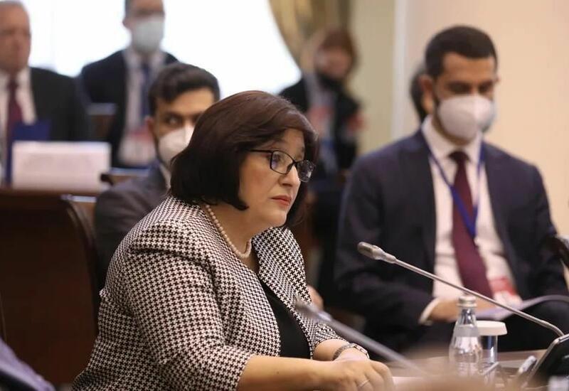 Sahibə Qafarova Sankt-Peterburqda Beynəlxalq konfransda çıxış edib