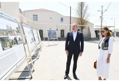Президент Ильхам Алиев и Первая леди Мехрибан Алиева приняли участие в закладке фундамента ремонтно-восстановительных работ в поселке Пиршаги - ОБНОВЛЕНО - ФОТО - ВИДЕО