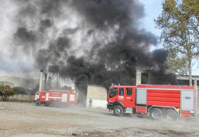 В Сабирабаде сгорел дом