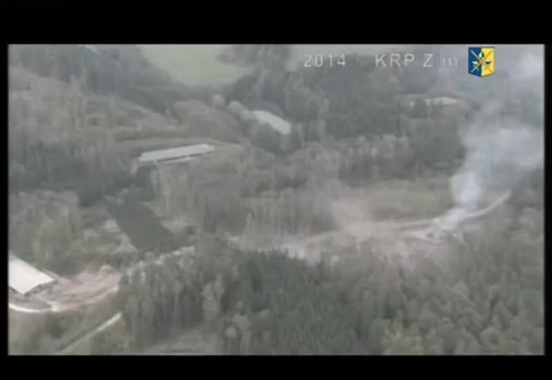 Кадры взрыва в Врбетице, в котором обвиняют Александра Петрова и Руслана Боширова