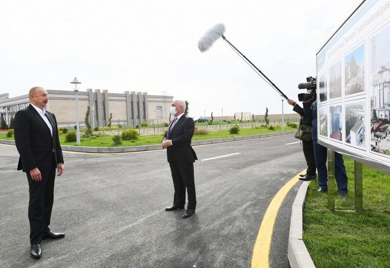 Президент Ильхам Алиев поинтересовался электроснабжением освобожденных территорий