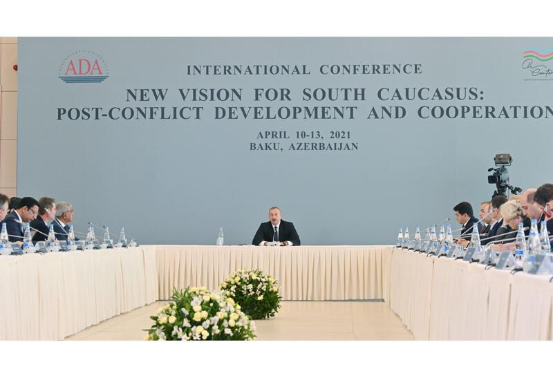 Выступление Президента Ильхама Алиева на состоявшейся в Университете АДА международной конференции находится в центре внимания мировых медиа
