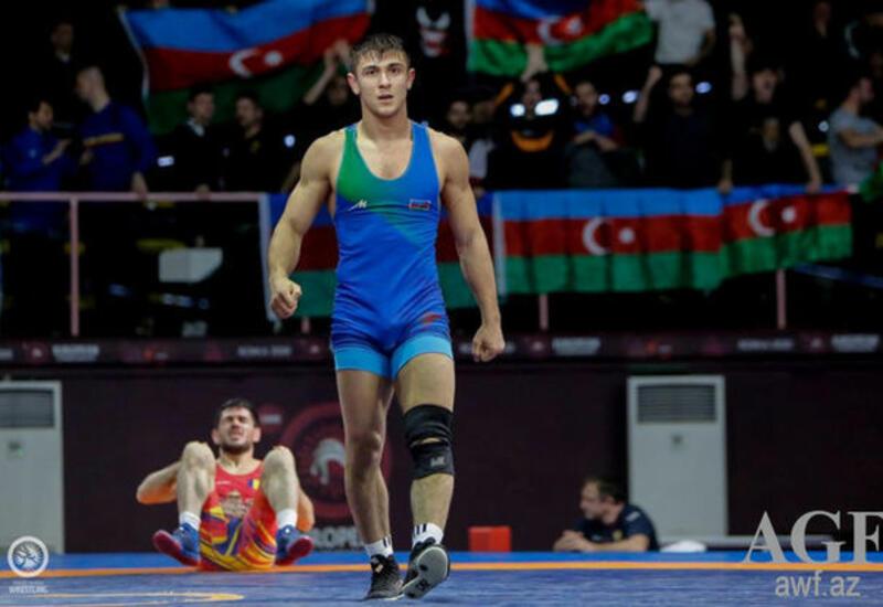Азербайджанский борец победил армянского спортсмена на чемпионате Европы
