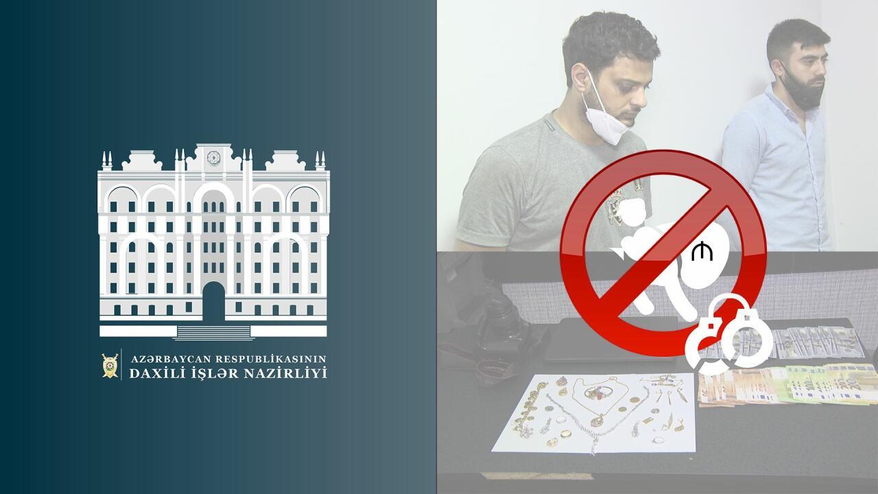 В Баку задержаны лица, совершившие кражу из дома на 110 тысяч манатов