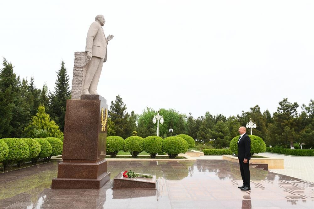Президент Ильхам Алиев прибыл в Гаджигабульский район