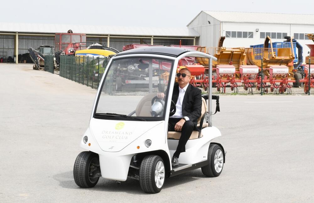 Президент Ильхам Алиев принял участие в открытии «Шамахинского агропарка Азерсун» в Гаджигабуле