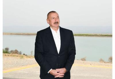 Президент Ильхам Алиев: Мы видим результаты работы, осуществленной нами в Гаджигабульском районе