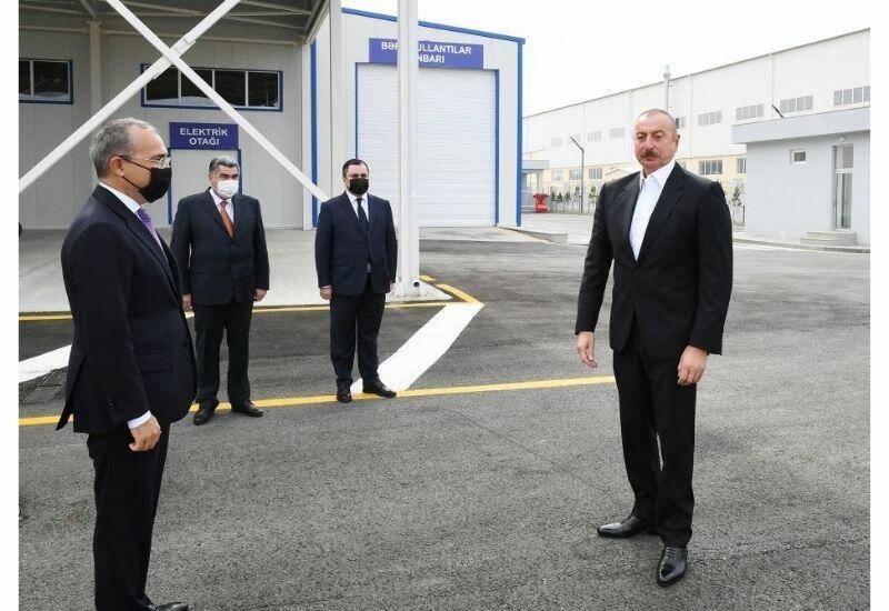 Президент Ильхам Алиев: В Карабахской зоне также будут функционировать промышленные парки