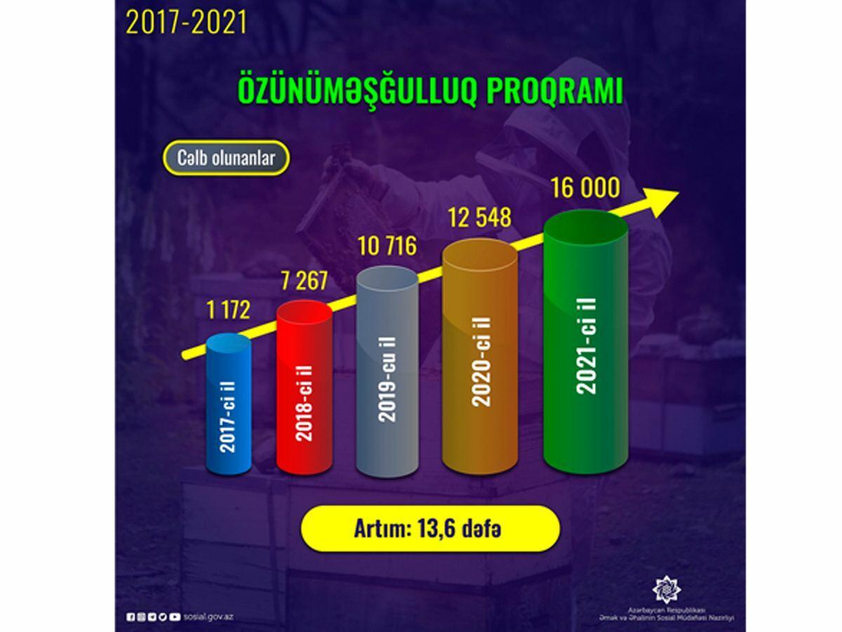 В Азербайджане увеличилось число лиц, привлеченных к программе самозанятости