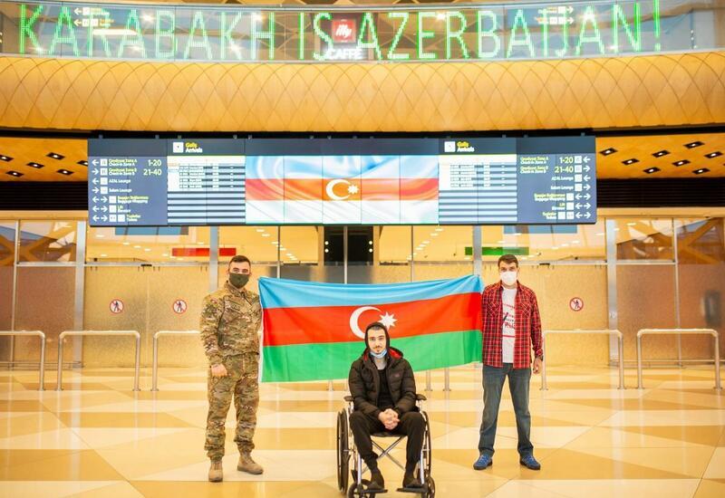 Прошедшие лечение в Турции два участника войны вернулись на родину