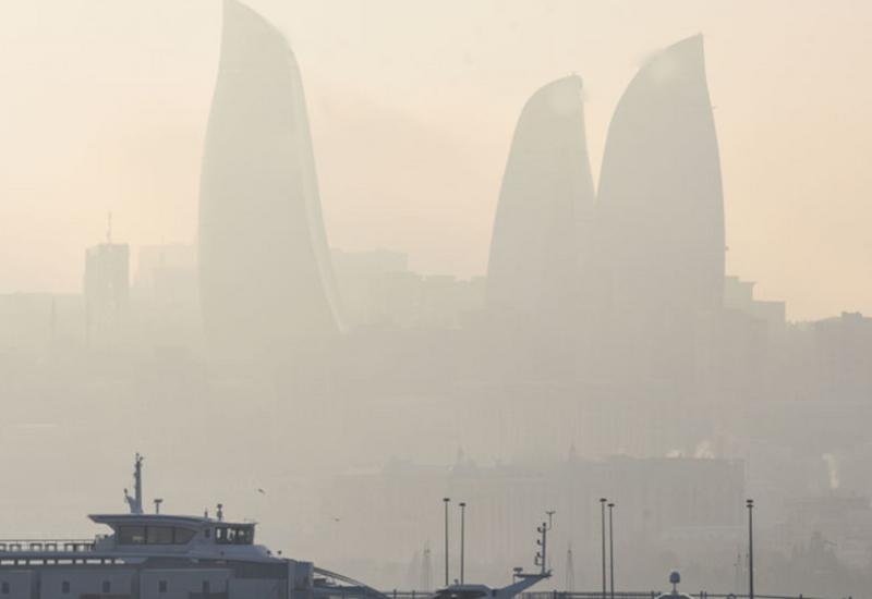 Запыленность воздуха в Баку к вечеру уменьшится