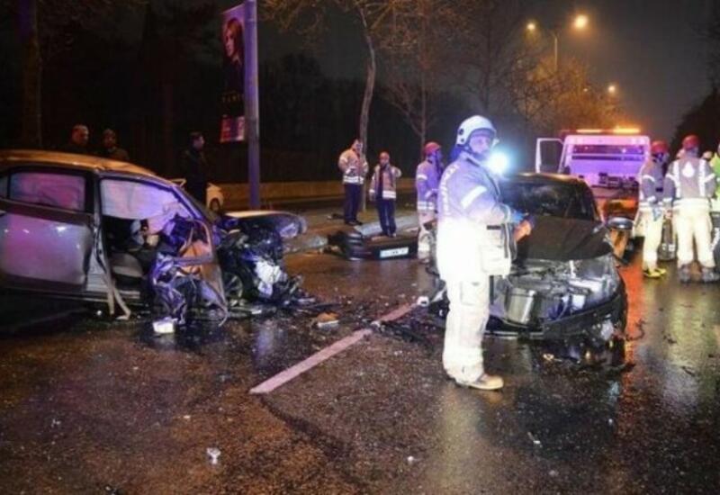Цепная авария в Гяндже