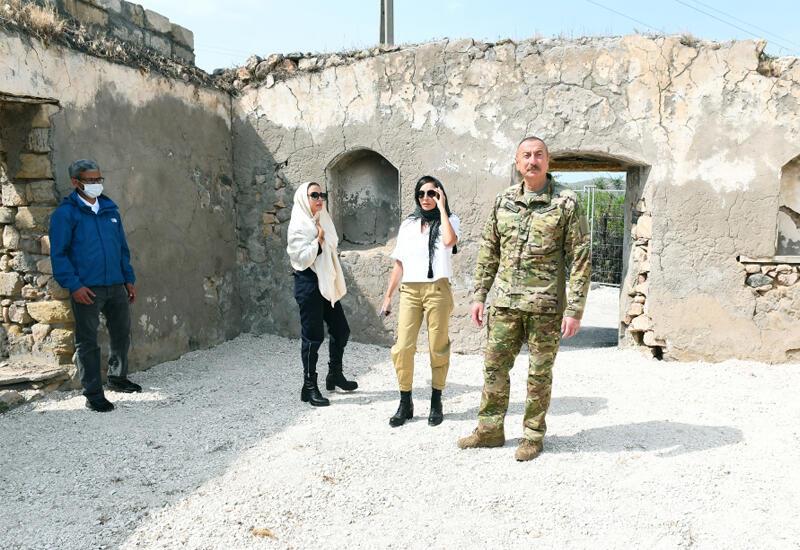 Президент Ильхам Алиев и Первая леди Мехрибан Алиева посетили Джебраильский и Зангиланский районы