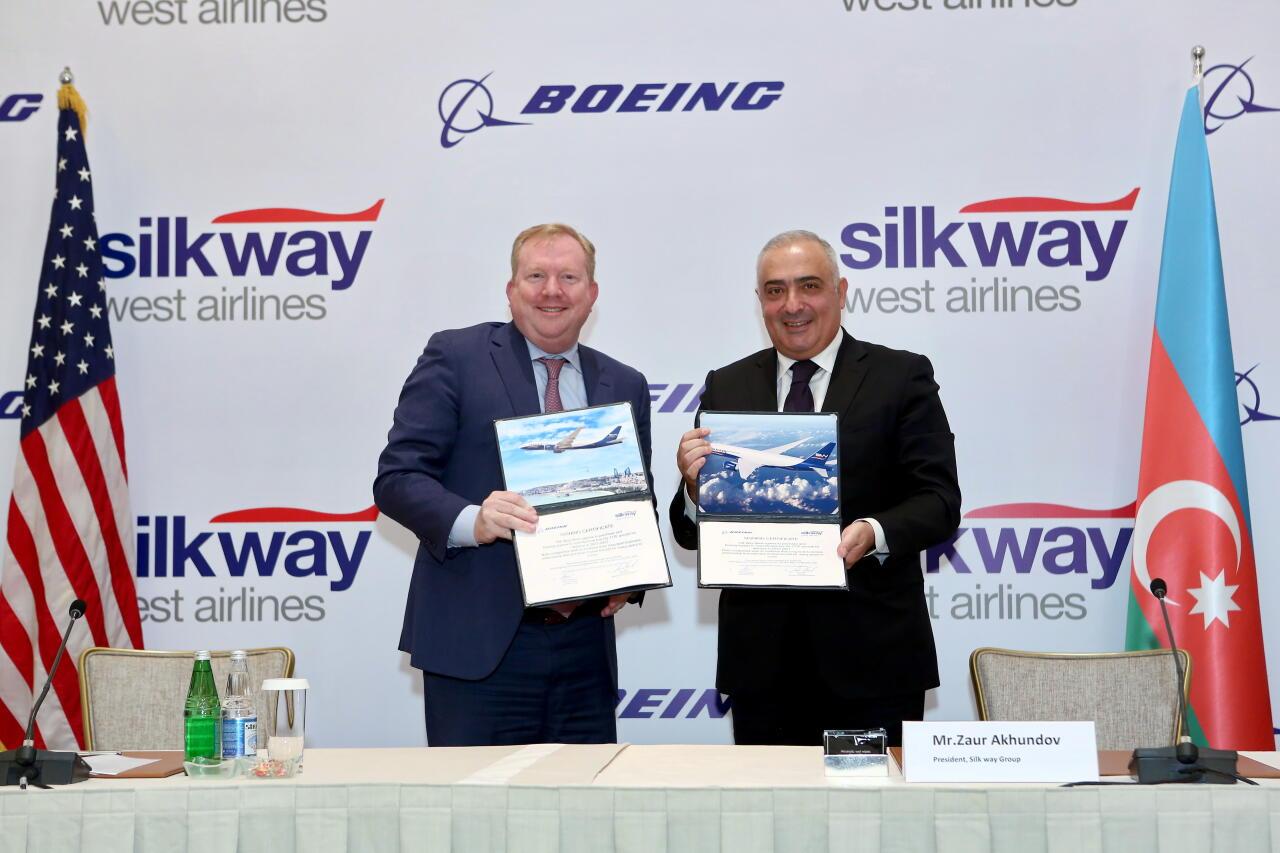 Silk Way West Airlines подписала стратегическое соглашение с Boeing о расширении флота