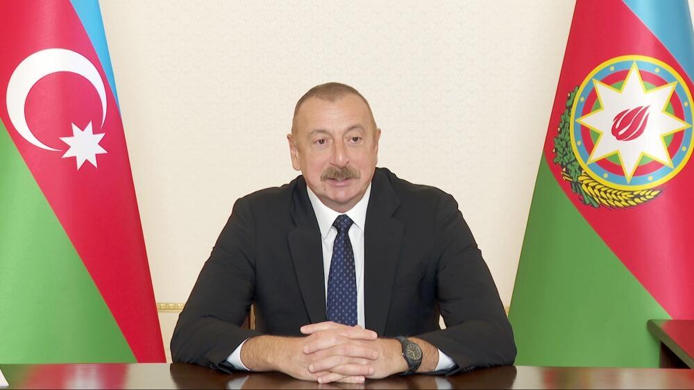 Состоялась встреча Президента Ильхама Алиева с президентом Всемирного экономического форума в формате видеоконференции