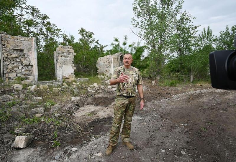 Президент Ильхам Алиев: За поселок Миндживан шли ожесточенные бои