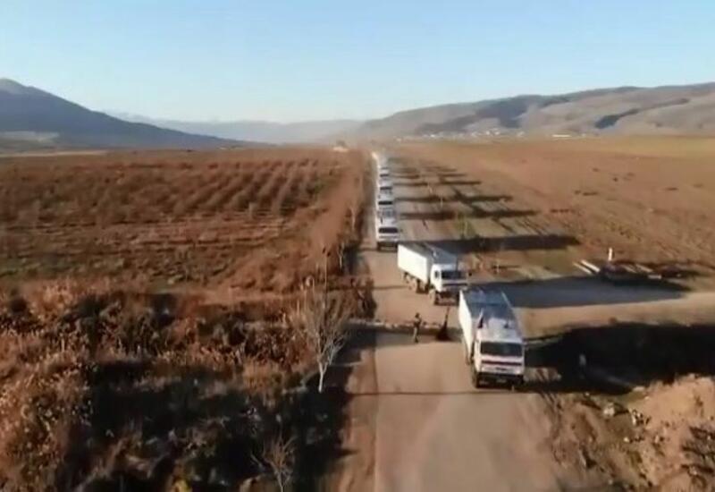 Российские миротворцы доставили в Кяльбаджарский район 420 тонн гуманитарного груза