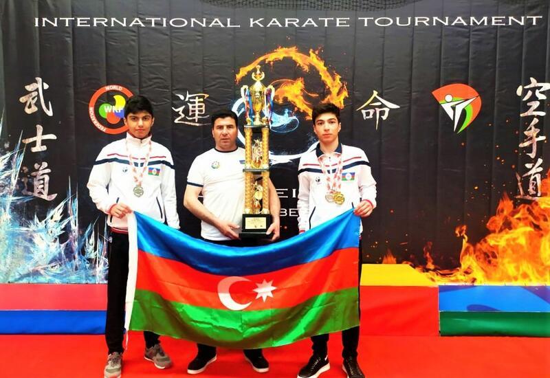 Азербайджанские каратисты завоевали золото и серебро в Беларуси